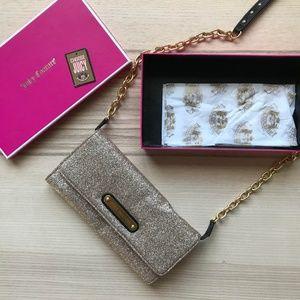 Juicy Couture Gold Glitter Crossbody Purse